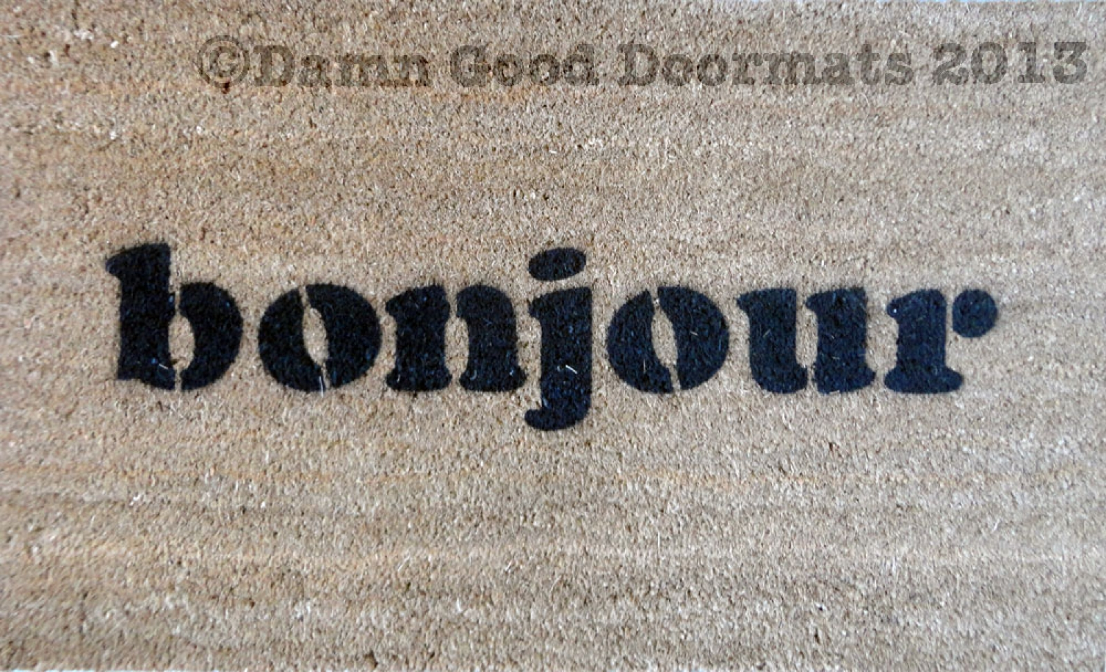 Attention Chien Bizarre French Doormat Damn Good Doormats