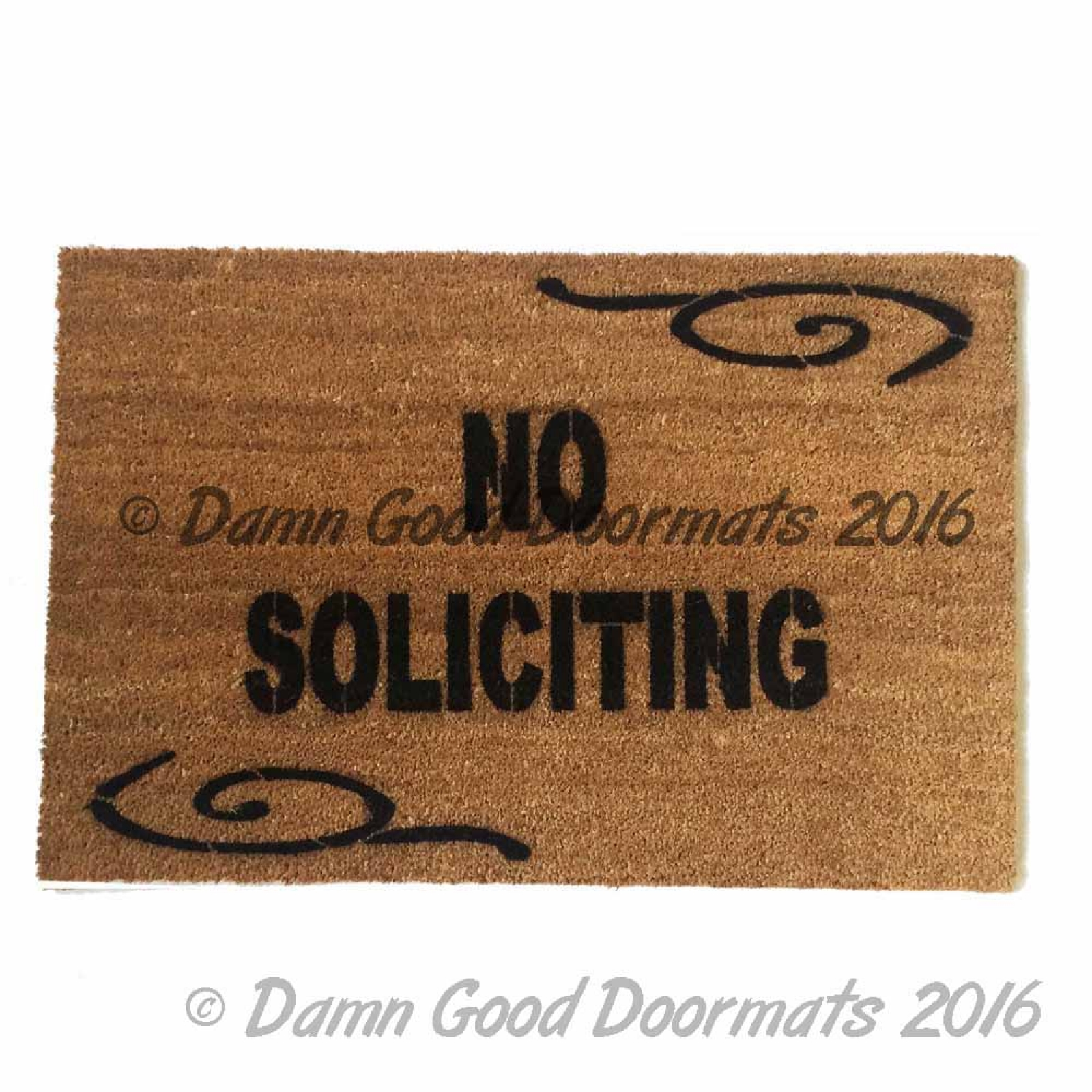 No Soliciting Funny Rude Doormat Damn Good Doormats