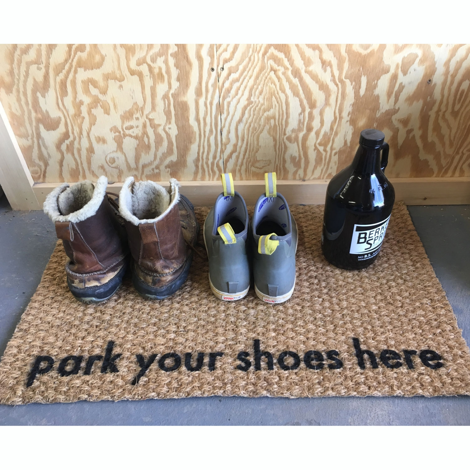 Shoes Off Park Your Shoes Here Funny Damn Good Doormat Damn Good