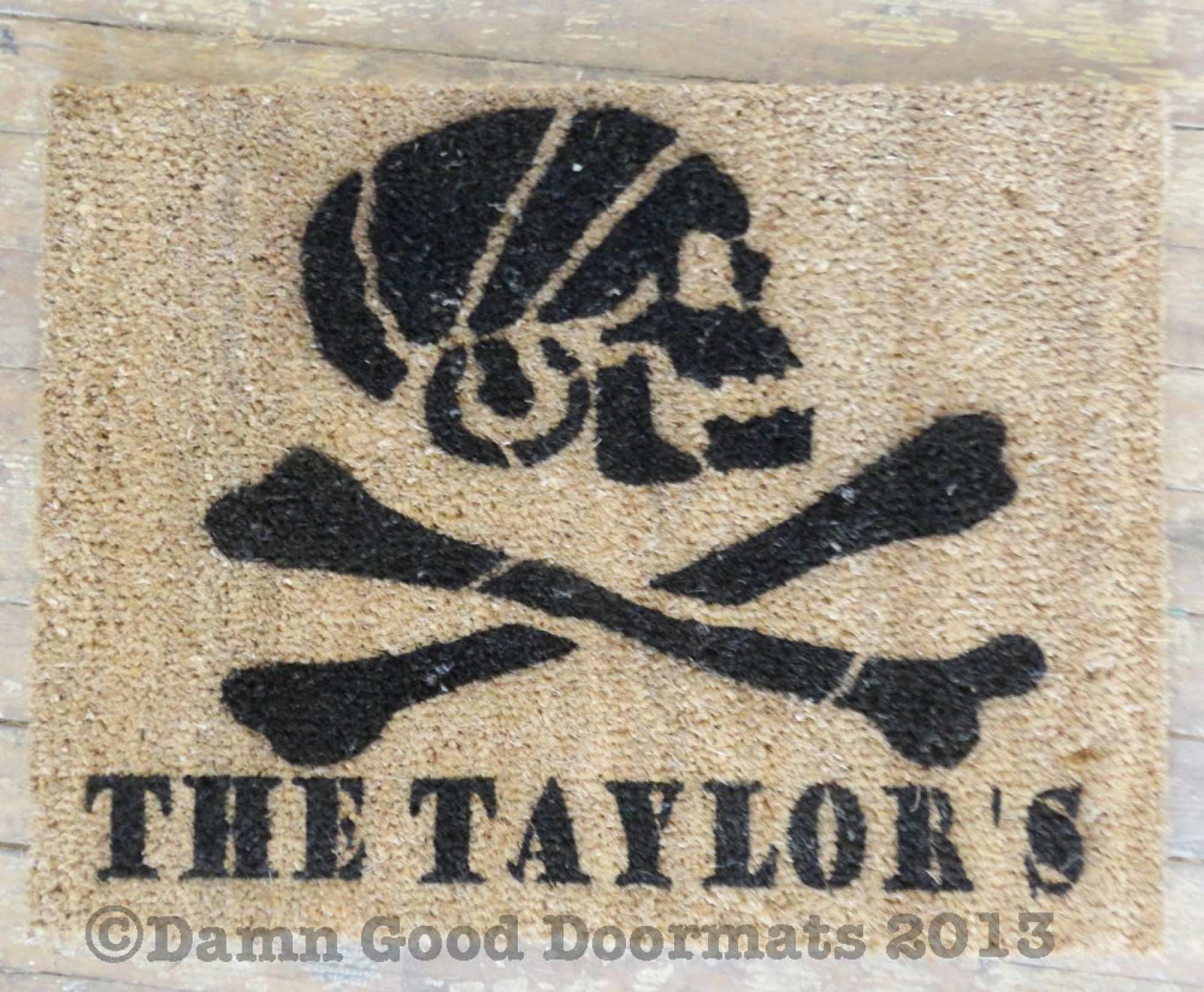 Pirate Ship Doormat The Pride Of Baltimore Hand Painted