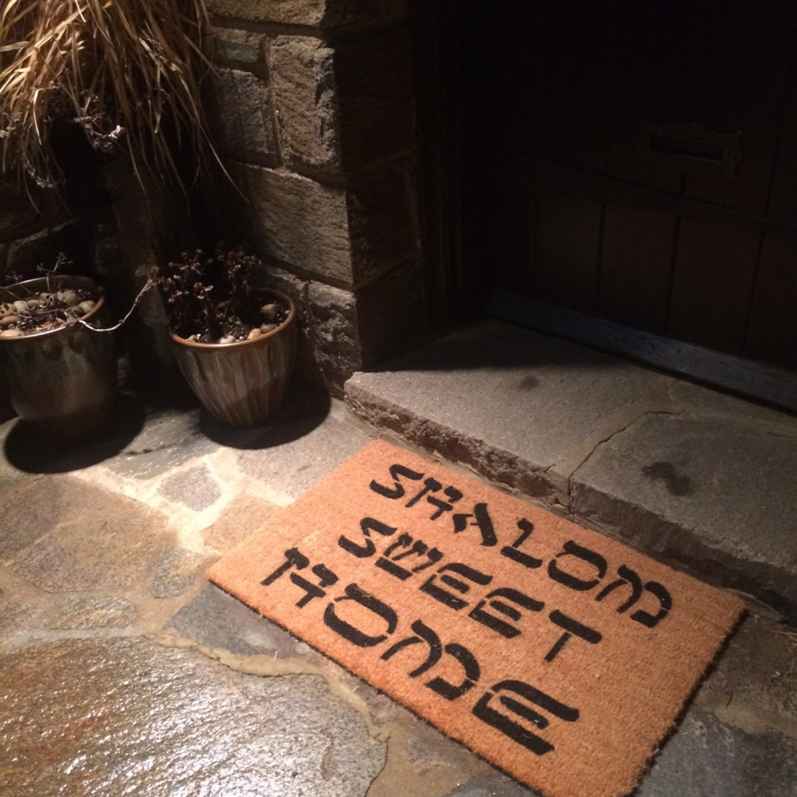 Shalom Y All Funny Jewish Welcome Doormat By Damn Good