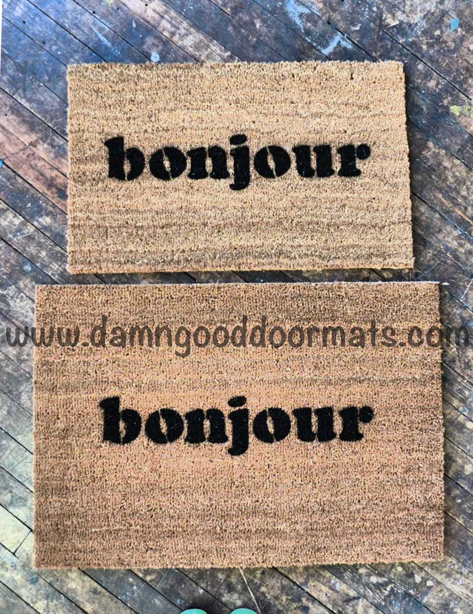 Bonjour French Good Day Doormat By Damn Good Doormats