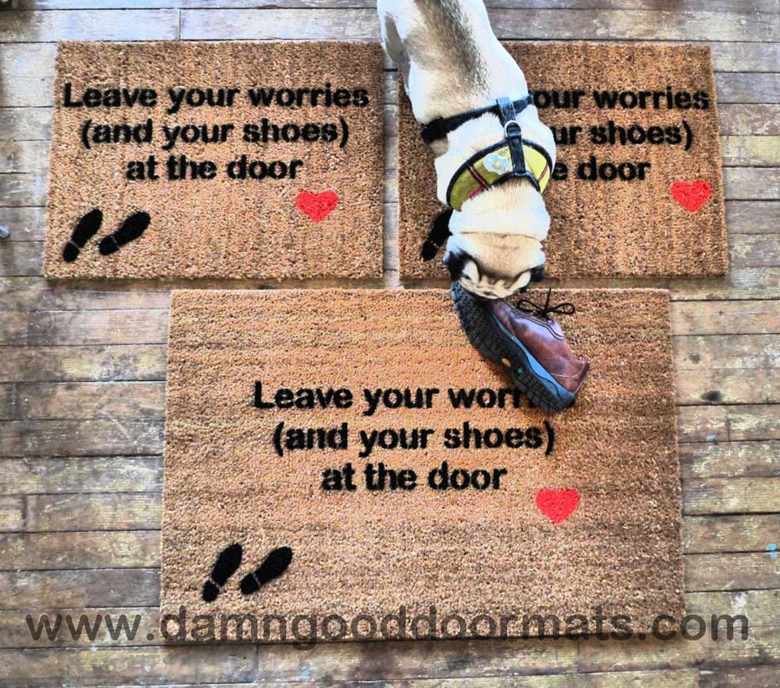 Leave Your Worries And Your Shoes At The Door Doormat