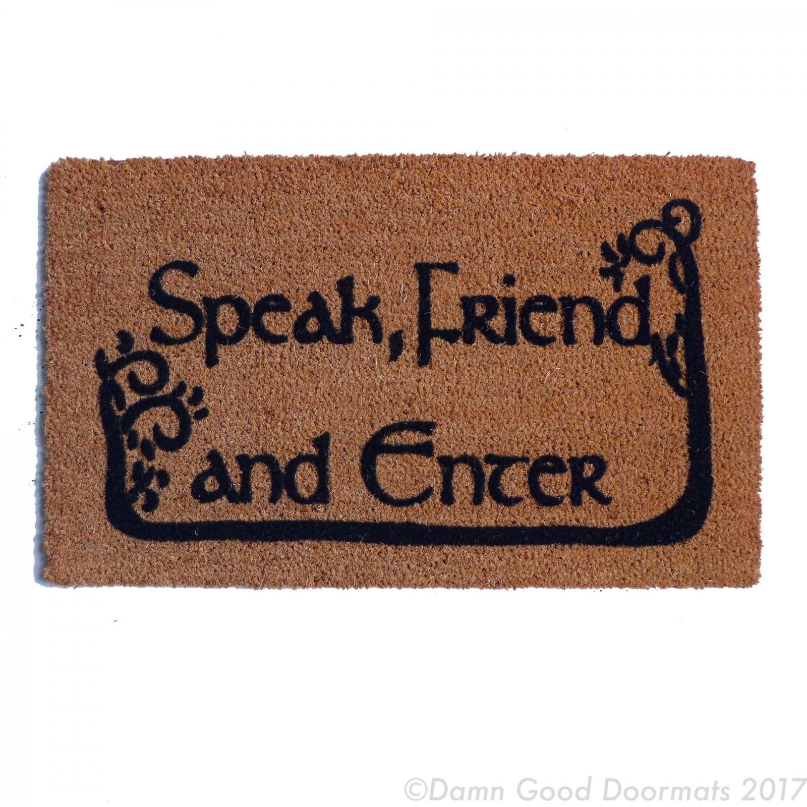 Tolkien Quot Speak Friend And Enter Quot Doormat With Trees