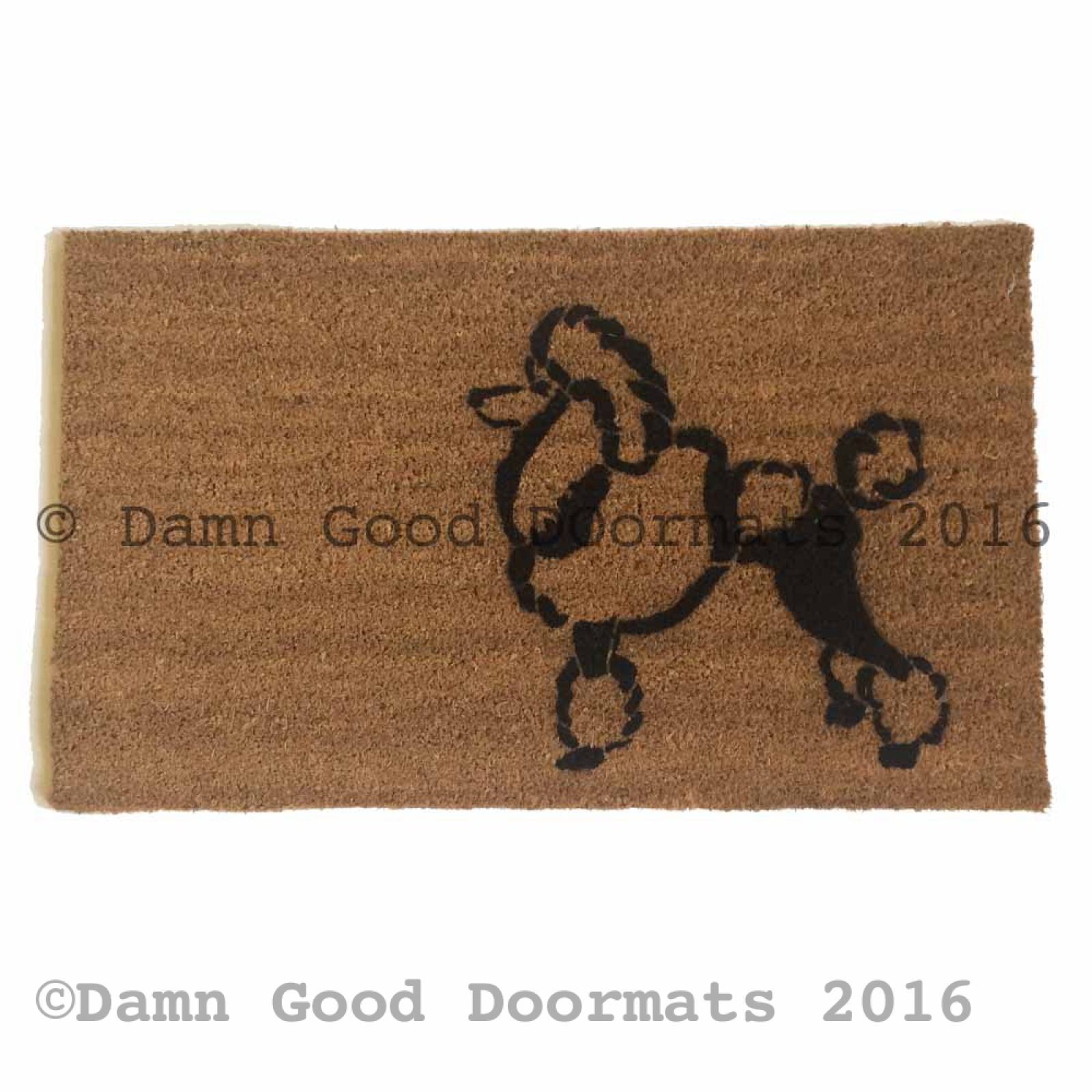 Toy Poodle Warning Guard Dog On Duty Funny Doormat Damn
