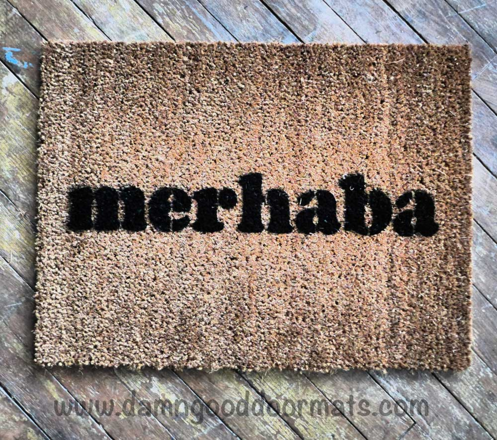 Turkish Merhaba Welcome Mat Damn Good Doormats