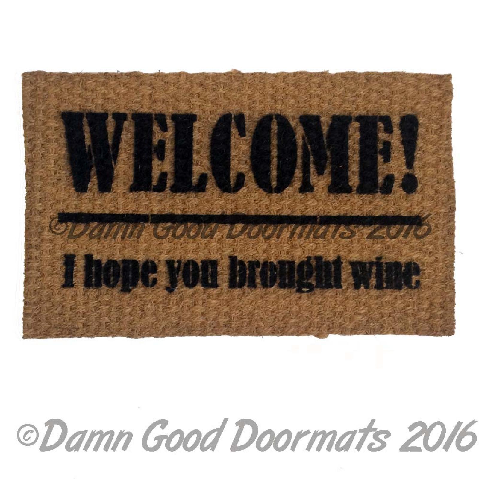 Two Buck Chuck Wine Welcome Here Cheap Wine Doormat