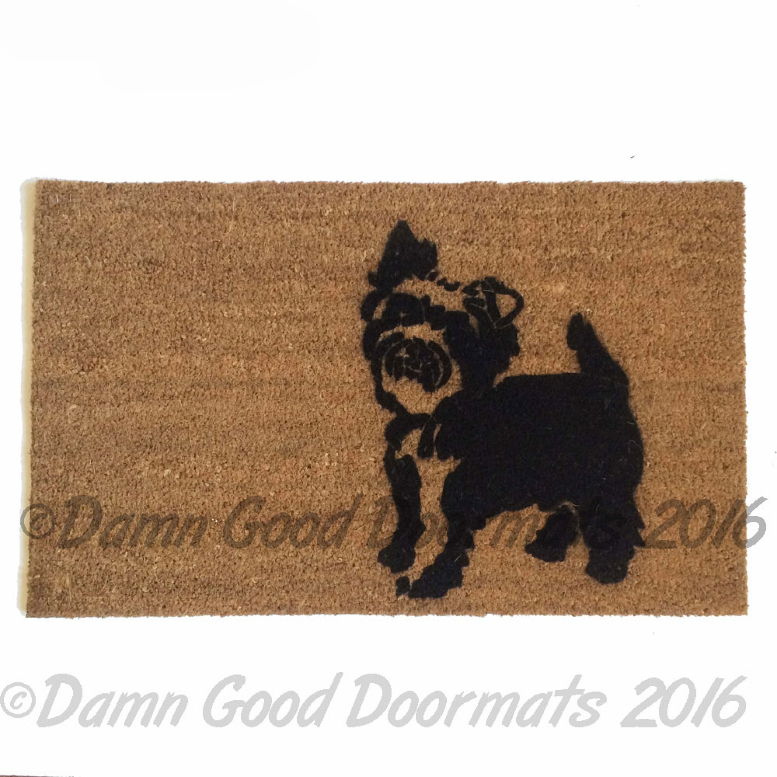 Yorkie Yorkshire Terrier Guard Dog Funny Doormat Damn