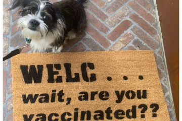 WELC... wait, are you vaccinated? doormat