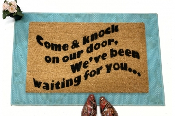 Come knock of our door™ funny 3's Company 80's TV doormat