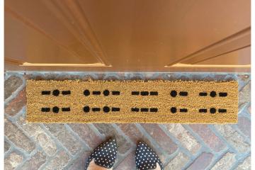 Morse code Knock knock Escape room nerdy doormat