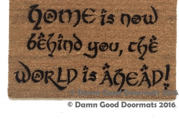 JRR Tolkien HOME is now behind you Gandalf doormat