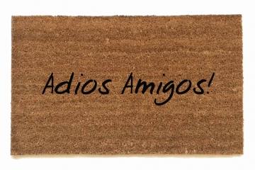 Adios Amigos! Good bye friends Spanish doormat