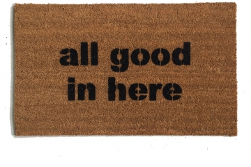 All good in here™ safe zone doormat