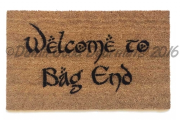 Bilbo Welcome to Bag End Tolkien doormat