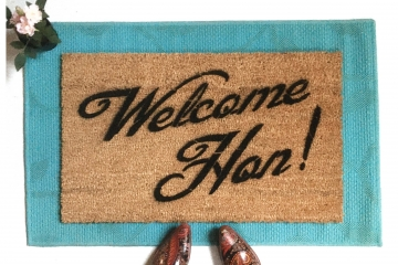 Welcome Hon! Baltimore Maryland doormat