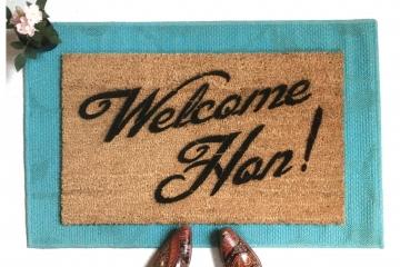 Welcome Hon! Baltimore Maryland doormat