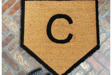 Home Plate Baseball Customized doormat