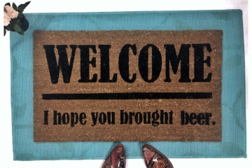 Beer Lovers also- wine, taco, weed, cake, vodka, patron doormat