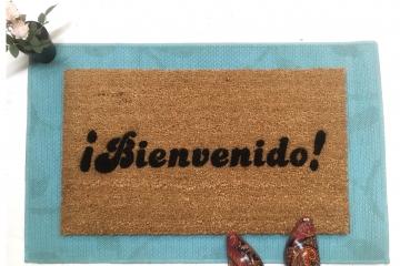 Spanish Bienvenido! doormat
