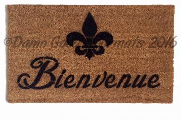 Bienvenue Fluer de lis French doormat