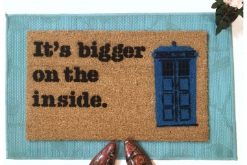 Dr. Who Bigger on the inside Tardis doormat
