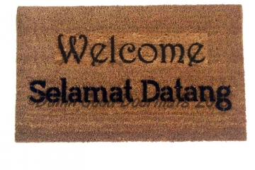 Bilingual English Selamat Datang- Indonesian Welcome