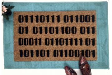 Binary Computer programmer code doormat