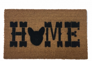 Block HOME French Bulldog doormat Frenchie