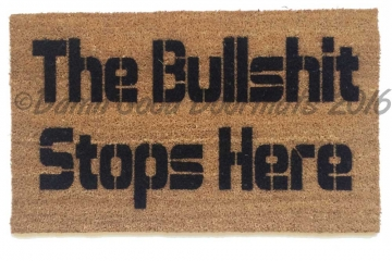 The Bullshit stops here funny rude doormat