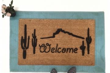 Cactus High desert Western doormat