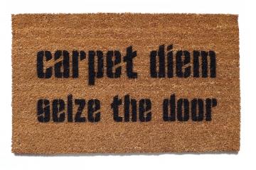 carpet diem, seize the door™funny  latin doormat