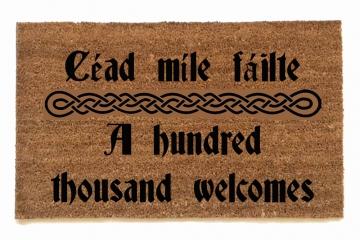 Irish welcome doormat
