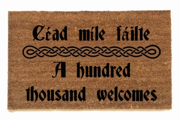 Irish welcome doormat