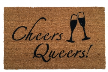 Cheers Queers! Queer Eye JVN Fab Five LGBTQ doormat