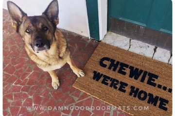 Star Wars Chewie, we're home, Han Solo Chewbacca doormat