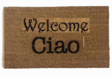 English Italian bi-lingual Ciao doormat