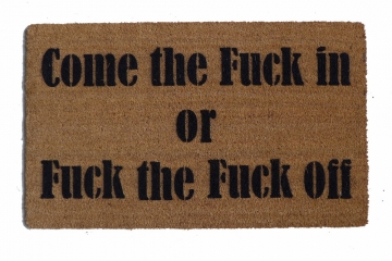 Come the fuck in or Fuck the fuck off, Still Game doormat