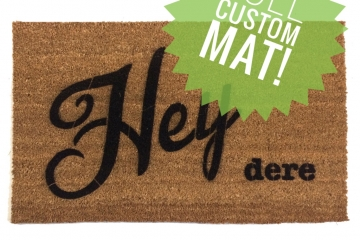 Custom personalized doormat
