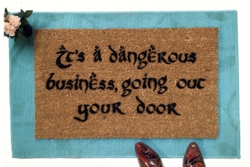 JRR Tolkien DANGEROUS business doormat Gandalf
