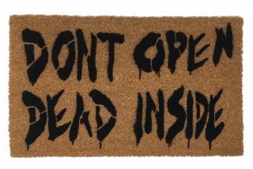 Dead inside Walking Dead Zombie Halloween doormat
