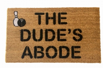 The Dude's Abode, The Big Lebowski Dudeism doormat