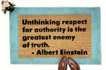 Einstein quote doormat