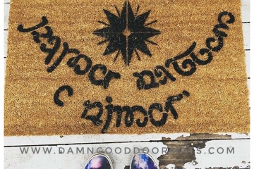 Elvish 1 color JRR Tolkien Speak Friend and Enter doormat