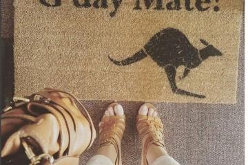G'day Mate  kangaroo Australian Aussie doormat