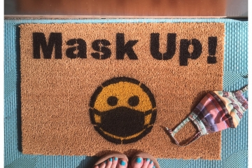 Mask Up! doormat