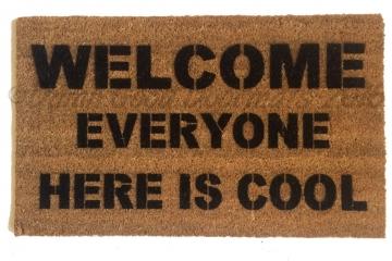EVERYONE cool funny door mat