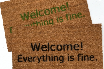 Welcome! Everything is fine. The Good Place doormat