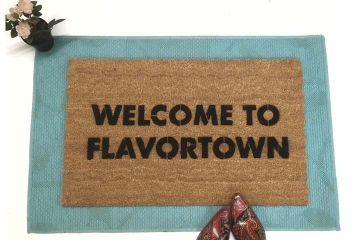 Welcome to Flavortown Guy Fieri doormat