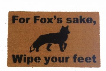 For fox's sake, wipe your feet